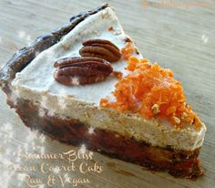 #Raw, #Vegan, #Glutenfree, #Paleo!  http://www.artisticvegan.com/summer-bliss-pecan-carrot-cake/