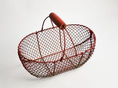 TAKE 10% OFF: Large French Vintage Cherry Red Egg Basket by CandleLibrary