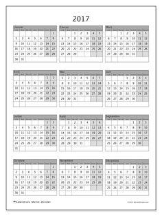 Calendrier imprimer annuel avec les f tes nom des Grand calendrier mural 2017