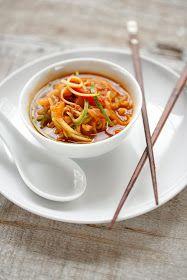 Kimchi and Zucchini Noodle Soup (Vegan, Paleo, Gluten-free)