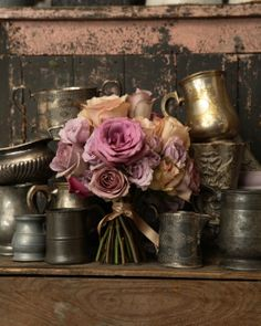 blown roses & pewter