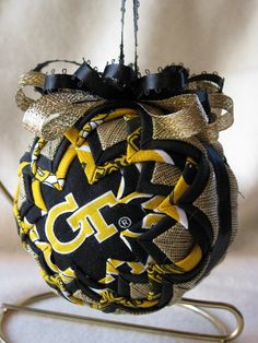 Georgia Tech Quilted Ornament