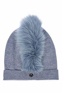 d9ba44a64f8 Charlotte Simone Designer Mo Mohawk Cashmere Hat with Fox Fur Charlotte  Simone
