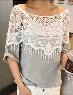 E.9 Women's All Match Lace Batwing Sleeve Shirt. Get thrilling discounts up to 80% Off at Light in the Box with Coupon & Promo Codes.