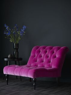 From sofa velvet sofa velvet couch deep pink violet vibrant color velvet upholstery arm ch&; From sofa velvet sofa velvet couch deep pink violet vibrant color velvet upholstery arm ch&; pfefferino pfefferino Anke Haus From […] decoration for home black Velvet Furniture, Funky Furniture, Furniture Decor, Furniture Design, Furniture Dolly, Casa Lea, Salons Violet, Pink Accent Walls, Traditional Sofa