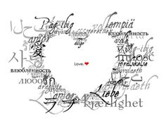 Love in many languages ♥