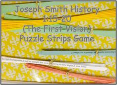 Joseph Smith History 1:15-20 (The First Vision) Scripture Mastery Puzzle Game.
