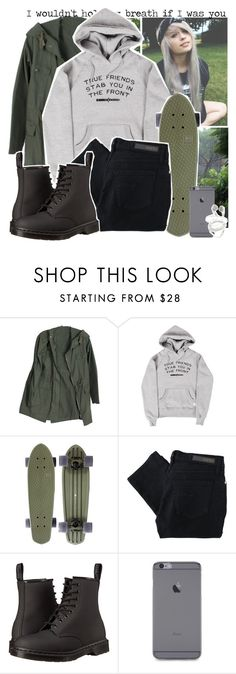 """""""True friends, bring me the horizon"""" by zombielover100 ❤ liked on Polyvore featuring Nobody Denim and Dr. Martens"""