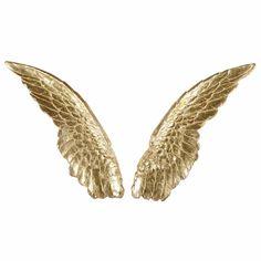 Decoración de pared de alas de ángel doradas 69x101 cm GABRIELLE
