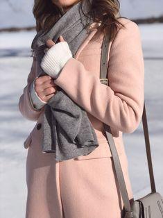 gray + blush pink