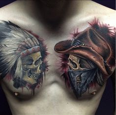 Cowboys and Indians Tattoos - Inked Magazine