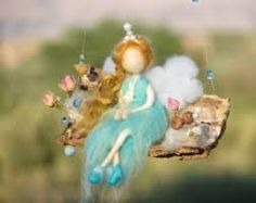 sitting felted fairy - Google Search