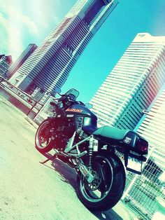 Landmark Tower and a motorcycle. wish I were there...