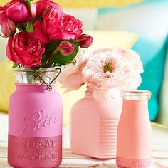 Idea para decorar con jarrones y flores en San Valentín