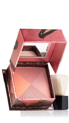 Benefit Sugar Bomb Blusher. My favorite blush ever! It's practically the only one I use! Gives a natural look and is also buildable!