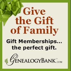 "An illustration promoting GenealogyBank's gift memberships. Read more on the GenealogyBank blog: ""Perfect Holiday Gift for Genealogists: GenealogyBank Membership."" http://blog.genealogybank.com/perfect-holiday-gift-for-genealogists-genealogybank-membership.html"