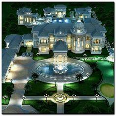 30 The DIY Dream House Mansions - Villa - Dream houses Mansion Homes, Dream Mansion, Beach Mansion, Layouts Casa, House Layouts, Dream House Exterior, Dream House Plans, Dream Home Design, Victorian Houses