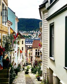 Bergen Norway's Second City and the Gateway to the Fjords. Photo by @andrewj1231 on Instagram.