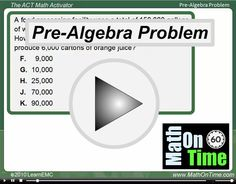 ACT Math Test Prep - ACT Math test & solutions (free)