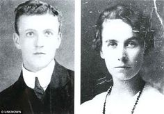 Jock Hume, played the violin in Titanic's band. Starcrossed lovers: Jock Hume, right, in a portrait released by his family after the Titanic sank. Left, Mary Costin in 1915. Click on picture to read their story.
