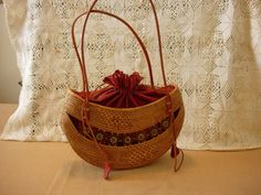 Bali Ata Rattan Handbag by AtticFanaticUS on Etsy