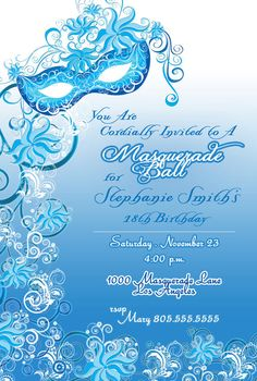Masquerade Party Custom Designed by BrooklynDesignStudio on Etsy