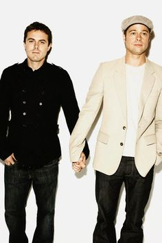 casey affleck and brad pitt. Brb killing myself because casey Brad Pitt And Angelina Jolie, Jolie Pitt, Hot Actors, Actors & Actresses, Assassination Of Jesse James, Wes Anderson Movies, Casey Affleck, Val Kilmer, Gay