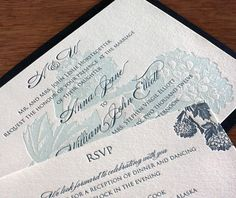 laura letterpress wedding invitation by invitations by ajalon