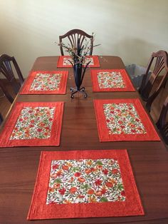 Hey, I found this really awesome Etsy listing at https://www.etsy.com/ca/listing/463250390/fall-leaves-place-mats-set-of-6