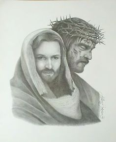 Jesus The Passion of Christ Black White Pencil Print Art Drawing Signed Picture