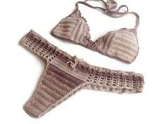brazilian bikini bottom and lace bikini top summer wear crochet swimsuit women two piece bikini senoAccessory on Etsy, 50,00$