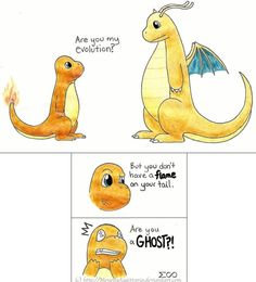 """Charmander: """"ARE YOU A GHOST?"""""""
