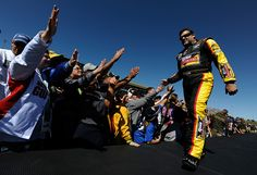 PHOTOS: Tony Stewart during driver intros before the start of the Hollywood Casino 400 at Kansas Speedway. For more photos from Kansas, visit: http://www.stewarthaasracing.com/media/gallery/index.php