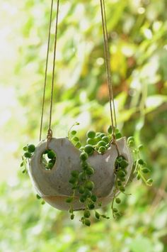 Hanging pots with holes. Ceramic Planters, Ceramic Clay, Planter Pots, Slab Pottery, Ceramic Pottery, Pottery Pots, Deco Nature, Flower Pots, Flowers