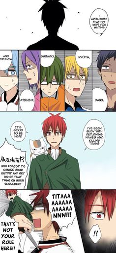 Kuroko no Basket. .... im surprised that he didnt attack murisakibara.