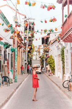 Colourful streets in Cartagena, Colombia