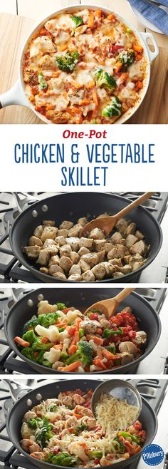 One-Pot Chicken and Vegetable Skillet: Frozen veggies are the key to this flavor-packed dinner — made entirely in one dish.
