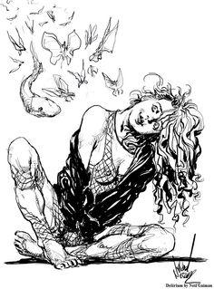 Delirium by Neil Gaiman - Visit: http://angelakamcomicart.wordpress.com/