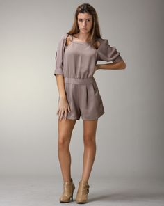 Amy says: This jumper is PERFECT for a vacation. It's always stressful packing for getaways, so when you don't have to match your pieces, your life is a lot easier. Throw in this little piece for your dinner dates or parties. The cutouts are also a great detail. Jumper Suit, Date Dinner, Amy, Cold Shoulder Dress, Rompers, Suits, Packing, Parties, Vacation