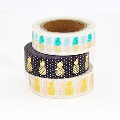High quality Christmas masking tape pineapple image adhesive Japanese washi tape