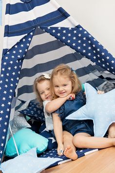 Sweet girls in teepee from Fun with Mum