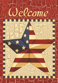 Custom Decor Flag - Barn Star Americana Decorative Flag at Garden House Flags at GardenHouseFlags