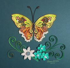 Butterfly. Quilling by Canan Ersöz