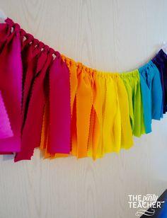 Shopkins Fabric Tie Garland | $29 #shopkinsparty
