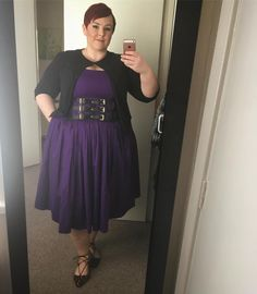 Look at my new belt! It's so cool and comfortable like a girdle it's from Jenny dress from happy Friday everyone Pinup Girl Clothing, Look At Me, Happy Friday, Plus Size Fashion, Short Hair Styles, Asos, Tulle, Belt, Cool Stuff