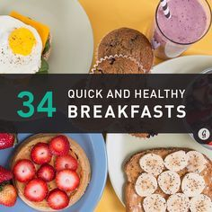We picked 34 of the best, healthiest breakfast options (perfect for packing as snacks too)!