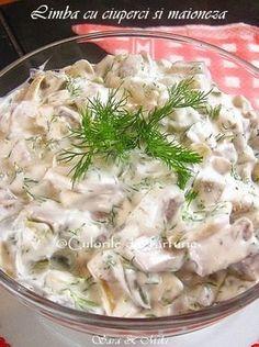 Quick and Easy Cold Vegetable Salads, Healthy Tips, Healthy Recipes, Romanian Food, Romanian Recipes, Salad Recipes, Potato Salad, Stuffed Mushrooms, Good Food