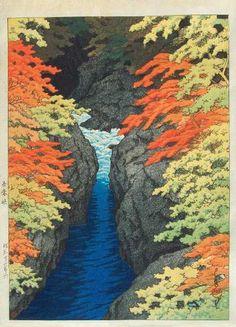 Ukiyo-e Gallery/ Hasui Kawase 1883-1957  Azuma Gorge..(azuma kyo)