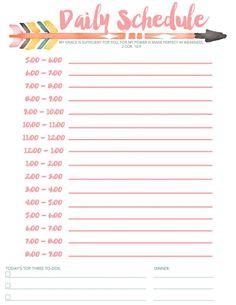 Weekly Schedule Template Printable Best Of Daily Schedule Free Printable Diy Daily Schedule Printable, Daily Routine Schedule, Daily Calendar Template, Summer Schedule, Kids Schedule, Planner Template, Printable Planner, Daily Schedules, Daily Schedule Templates