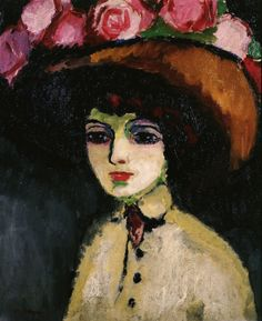 "herzogtum-sachsen-weissenfels: ""Kees van Dongen (Dutch-French, 1877-1968), La Parisienne de Montmartre, c. 1907-08. Oil on canvas, 64.5 x 53.2 cm. """